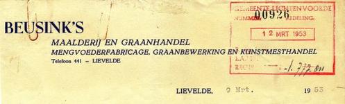 00212 Beusink's maalderij en graanhandel, mengvoederfabricage, graanbewerking en kunstmesthandel