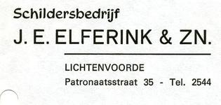 00273 Schildersbedrijf J.E. Elferink & Zoon