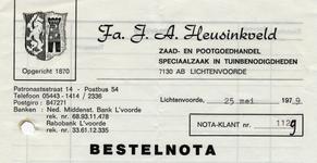 00330 Fa. J.A. Heusinkveld. Zaad- en pootgoedhandel, speciaalzaak in tuinbenodigdheden