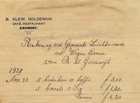 00373 B. Klein Goldewijk, café restaurant