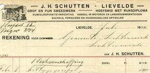 00507 J.H. Schutten, grof en fijn smeedwerk, hoefsmid met Rijksdiploma, rijwielreparatieinrichting, handel in motoren ...