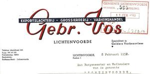 00549 Exportslachterij - grossierderij - varkenshandel Gebr. Vos