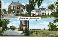 0962-0010 Groeten uit Gendringen. Grotestraat, Huis Landfort, Duitse douane, Engbergen