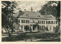 191 Ansichtkaart met foto van huis Landfort (zuidgevel), zwartwit