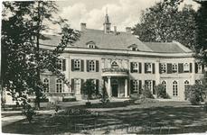 193 Ansichtkaart met foto van huis Landfort (zuidgevel), zwartwit