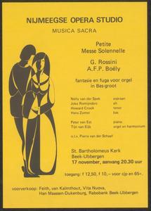 34 Nijmeegse Opera Studio - Musica Sacra - o.l.v. Pierre van der Schaaf. St. Bartholomeus Kerk Beek-Ubbergen