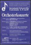 54 Orchesterkonzerte. Internationales Orchestertreffen Friedrichshafen. Europäische Vereinigung von ...