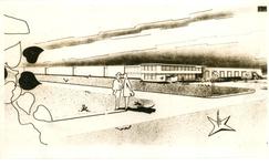 1095-15-223 Schets van de nieuwe vestiging van Sociale Werkplaats 'De Hoonte'