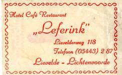 039 Hotel café restaurant 'Leferink'