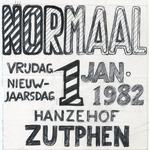 22 Poster van een optreden van Normaal in de Hanzehof in Zutphen (ontwerp)