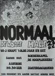 14 'NORMAAL - DE WOAGE – HALLE - 23 DEC' met daarop een afbeelding van Jan Manschot, Ferdi Jolij, Bennie Jolink en ...