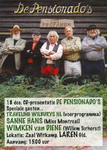 85 CD-presentatie van de band De Pensionado's in zaal Witkamp in Laren (Gld). V.l.n.r. Alan Gascoigne, Bennie ...