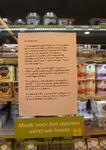 NL-DtcSARA_1628_0026 Aanplakbiljet met oproep voor samenwerking in supermarkt Plus