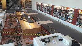 NL-DtcSARA_1628_0075 Werkplekken voor heropening studiezaal Erfgoedcentrum Achterhoek en Liemers