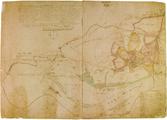 1668 Caarte daarin die Limitten van de heerlijckheit Dorenwerdt met een rootfarbde lijnie omtagen sijn...., april 1712