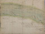 654-0002 [Twee ten dele weggeslagen kribben in de Rijn aan de oever van Heteren], 26 augustus 1646