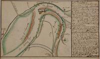 4450 Caartje van de rivieren onder Schenkenschans : en de Waal omtrent deze consideratie zijn als de doorsnijdinge van ...