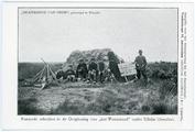 442-0004 Rustende arbeiders in de Ontginning van het Westerzand onder Uffelte (Drenthe), 1908