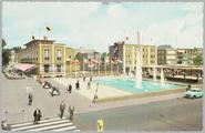 472 Arnhem A.K.U.-fontein met Willemsplein, ca. 1950