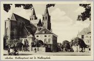 4883 Arnhem, Walburgstraat met St. Walburgskerk, ca. 1950