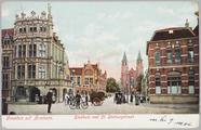 4899 Groeten uit Arnhem. Stadhuis met St. Walburgstraat, 1905-09-28