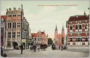 4900 Arnhem, Stadhuis met St. Walburgstraat, ca. 1910