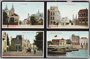 5378 St. Walburg, Stadhuis met Walburgstraat, Eusebius Buiten Singel, Openstaande Schipbrug, ca. 1920