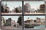 5379 St. Walburg, Stadhuis met Walburgstraat, Eusebius Buiten Singel, Openstaande Schipbrug, ca. 1920