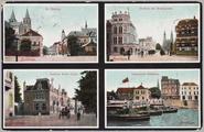 5441 Arnhem, St. Walburg Stadhuis met Walburgstraat, Eusebius Buiten Singel, Openstaande schipbrug, ca. 1930