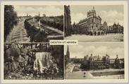 5443 Groeten uit Arnhem, St. Janssingel, Waterval sonsbeek, Duivelshuis, Musis Sacrum, 1904-07-25