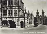5588-0002 Arnhem, Stadhuis en Walburgskerk, ca. 1920