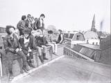 17625-0001 Punkers kraken bedrijfsgebouw aan de Bergstraat, 18-04-1984