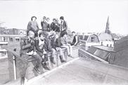 17625-0003 Punkers kraken bedrijfsgebouw aan de Bergstraat, 18-04-1984