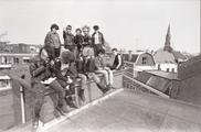 17625-0004 Punkers kraken bedrijfsgebouw aan de Bergstraat, 18-04-1984