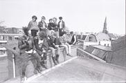 17625-0005 Punkers kraken bedrijfsgebouw aan de Bergstraat, 18-04-1984