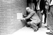17817-0001 Sint Marten. Feestelijk oplevering van de eerste nieuwbouw, 15-05-1984