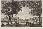 3532 DE STAD KUILENBURG van 't Veerhuis te zien, 1784
