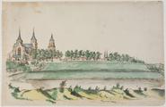 3828 Panorama van Arnhem vanuit het oosten, ca. 1674-1676