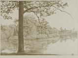 4055-0001 Het park - de groote vijver - 1906, 1906