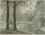 4055-0002 Het park - de Hooge- of Achtervijver - 1906, 1906