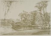 4055-0004 Het park - de groote vijver - 1907, 1907