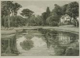 4055-0005 Het park - de nieuwe vijver - 1907, 1907