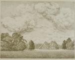 4055-0006 Gezicht op het park met de Faam - 1907, 1907