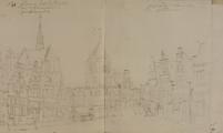 4186-0023b Gezicht op de .... Markt te Roosendaal, [1767-1783]