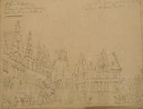 4186-0023v Grote Markt, Raadhuis en kerk van St. Jan de Doper te Roosendaal, [1767-1783]