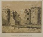 1505-S267-1854-0002 Ruïne van het slot Hulkestein bij Nijkerk, 1854