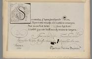1946 Spreuk van Jan van de Velde werkzaam aan de latijnsche school van Haerlem in 1631, 1838