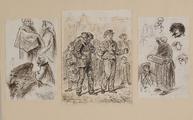 3607 Tekeningen en schetsen van Amsterdamse typen, 1848-ca. 1860