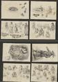 3608 Tekeningen en schetsen van Amsterdamse typen en vogels, 1848-ca. 1860