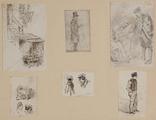 3614 Tekeningen en schetsen van Amsterdamse typen, 1848-ca. 1860